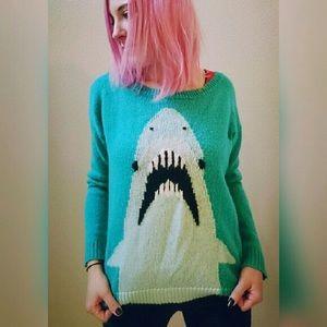 NWT Pacsun Daddy Shark Kawaii Novelty Sweater